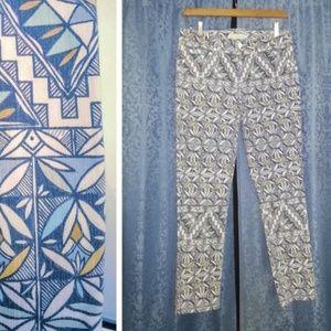 *HP* TORY BURCH multicolor pattern jeans